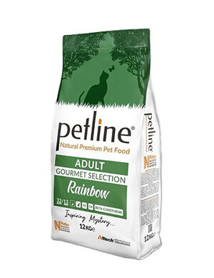 Petline Natural Premium Adult Cat Food With Gourmet Selection Rainbow 12kg