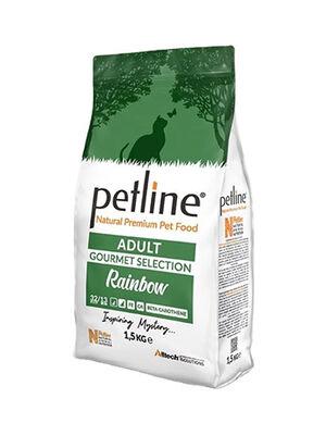 Petline Natural Premium Adult Cat Food With Gourmet Selection Rainbow 1.5kg