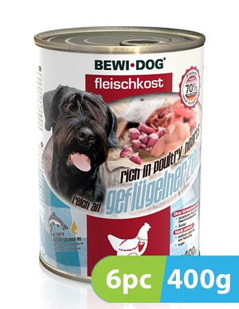 Bewi Dog Rich in poultry 6pc x 400g