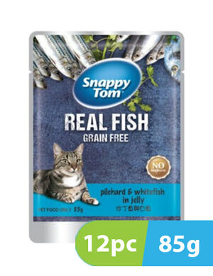 Snappy Tom Real Fish Grain Free Pilchard & Whitefish 12pc x 85g