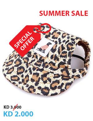 Pet Summer Hat leopard Medium