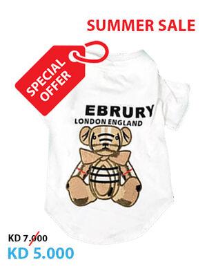 White Burberry Bear Shirts Small