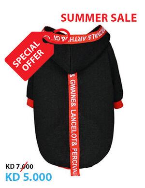 Black Striped Pet Clothes Medium
