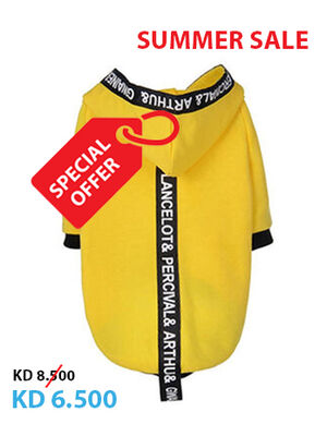Yellow Striped Pet Clothes Large