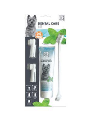 M-Pets Dental Care Set- Mint Flavor 100g