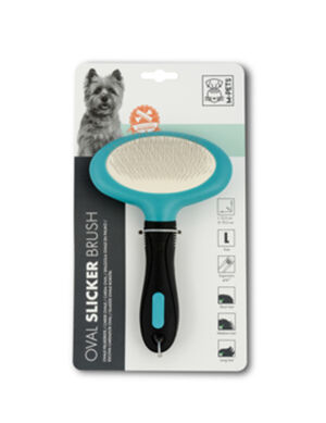 M-Pets Oval Slicker Brush Large