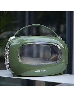 M-Pets SIXTIES Classic Pet Carrier Green