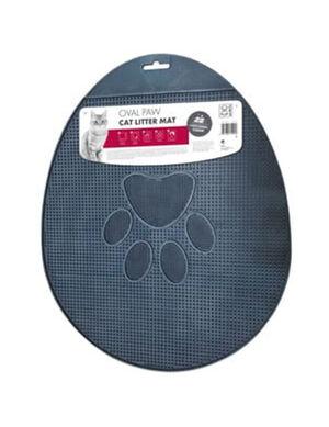 M-Pets Oval Paw Cat Litter Mat
