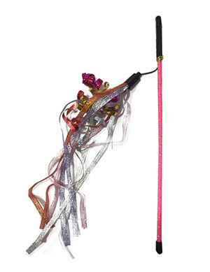 Dogman Cat's Toy Rod Trassel Color