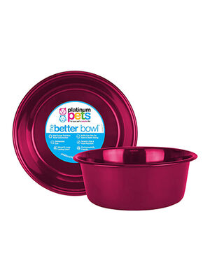 Platinum Pets Dog Bowl Candy Apple Red Small