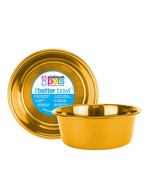 Platinum Pets Dog Bowl Gold Small