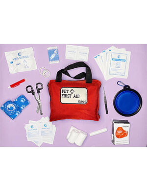 Floki's ISO Certified Pet First Aid Kit Red
