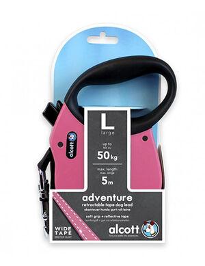 Alcott Adventure retractable leash, 5 m - Large - Pink -  Dogs product