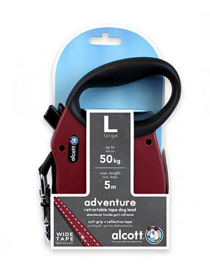 Alcott Adventure retractable leash, 5 m - Large - Red -  Dogs product