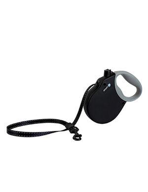 Alcott Adventure retractable leash, 5 m - Medium - Black