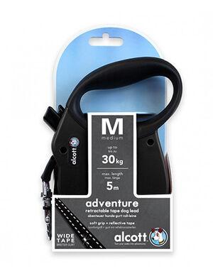 Alcott Adventure retractable leash, 5 m - Medium - Black -  Dogs product