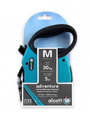 Alcott Adventure retractable leash, 5 m - Medium- Blue -  Dogs product