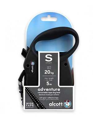 Alcott Adventure retractable leash Small Black -  Dogs product