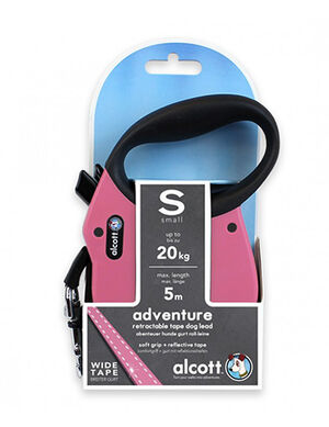 Alcott Adventure retractable leash Small Pink -  Dogs product