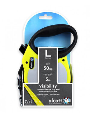 Alcott Visibility retractable leash Large Neon Yellow -  Dogs product