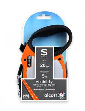 Alcott Visibility retractable leash Small Neon Orange -  Dogs product