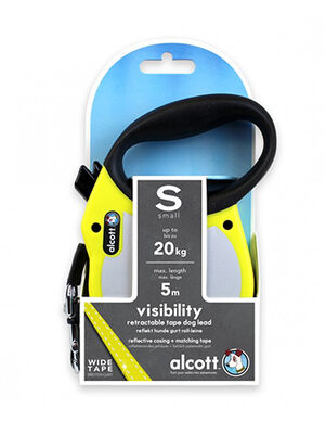 Alcott Visibility retractable leash Small Neon Yellow -  Dogs product