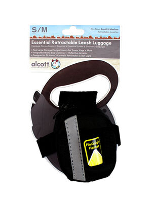 Alcott Luggage for Retractable Leash Large Black
