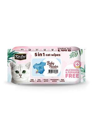 Kit Cat 5in1 Wipes Baby Powder 80pc