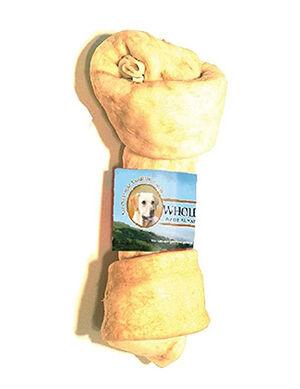 Wholesome Hide Flat Knot Bone Peanut Butter