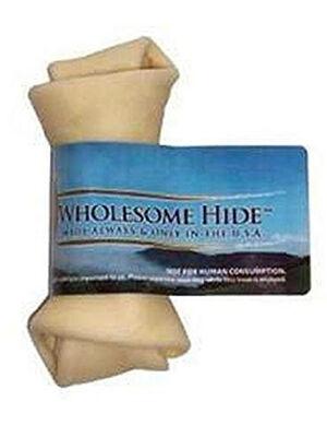 Wholesome Hide Flat Knot Bone Original