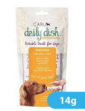 Caru Daily Dish Chicken Smoothies for Dogs 4pc x 14g