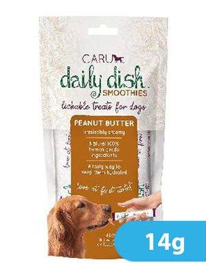 Caru Daily Dish Peanut Butter Smoothies for Dogs 4pc x 14g