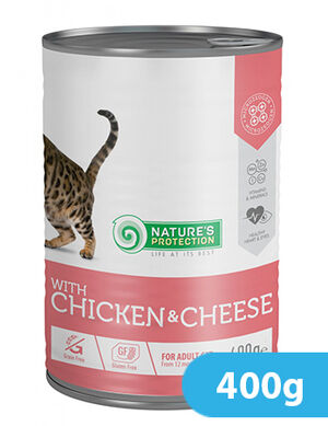 Natures Protection Chicken & Cheese 400 gr