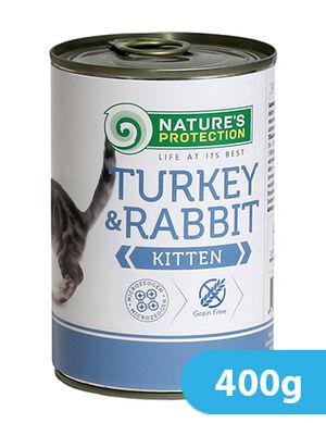 Natures Protection Turkey & Rabbit Kitten 400 gr