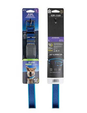 Niteize Nite Dog Rechargeable LED Collar Blue Medium