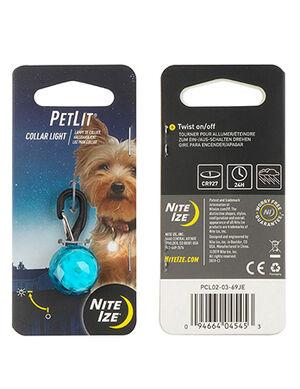 Niteize PetLit Collar Light Turquoise Jewel