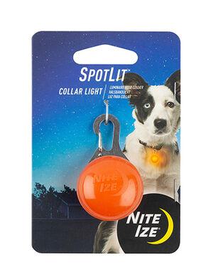 Niteize Spot Lit Collar Light Plastic Orange