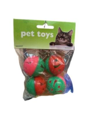 Petstore Pet Toys Plastic Balls 4pc