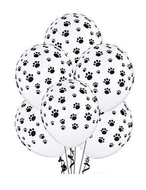 Colorstar Paw Prints Balloon White 20pc