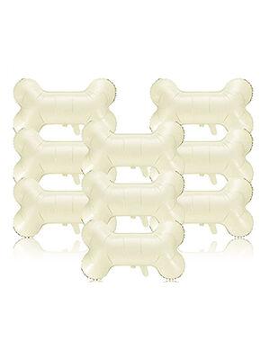 Gejoy Bone Shaped Foil Balloons Beige 9pc
