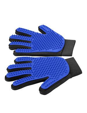 Delomo Pet Grooming Gloves Blue