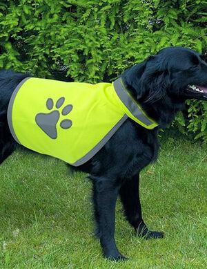 Pet Craft Reflective Dog Vest Yellow Medium