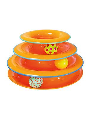 Pet Craft 3 Level Rolling Toy Orange  Turuncu
