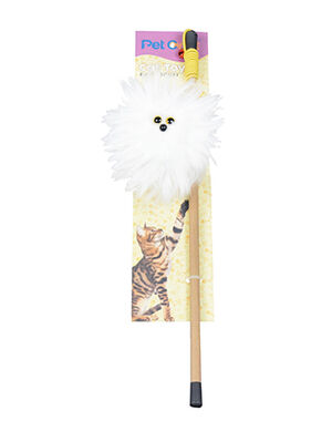 Pet Craft Fluffy Toy Wand With Catnip