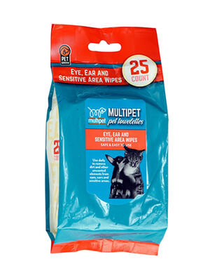 Multipet Sensitive Pet Wipes 25pc -  Dogs product
