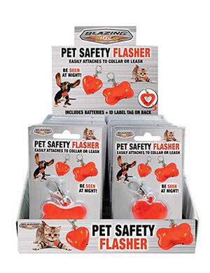 Blazing Ledz Pet Safety Flasher Red
