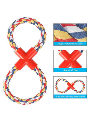 Dog Fig Eight Rope Multicolour
