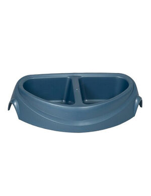 Petmate Ultra Double Diner Bowl Blue