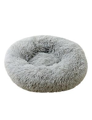 Grey Plush Bed 60cm