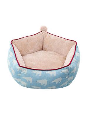 Blue Bear Design Plush Bed Large 60 cm